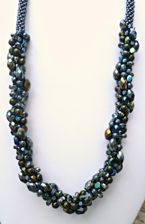 ACampbell: Beaded Kumihimo Chunky Necklace Bling 2