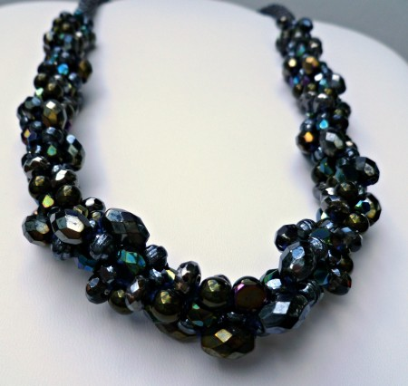 ACampbell: Beaded Kumihimo Chunky Necklace Bling 1