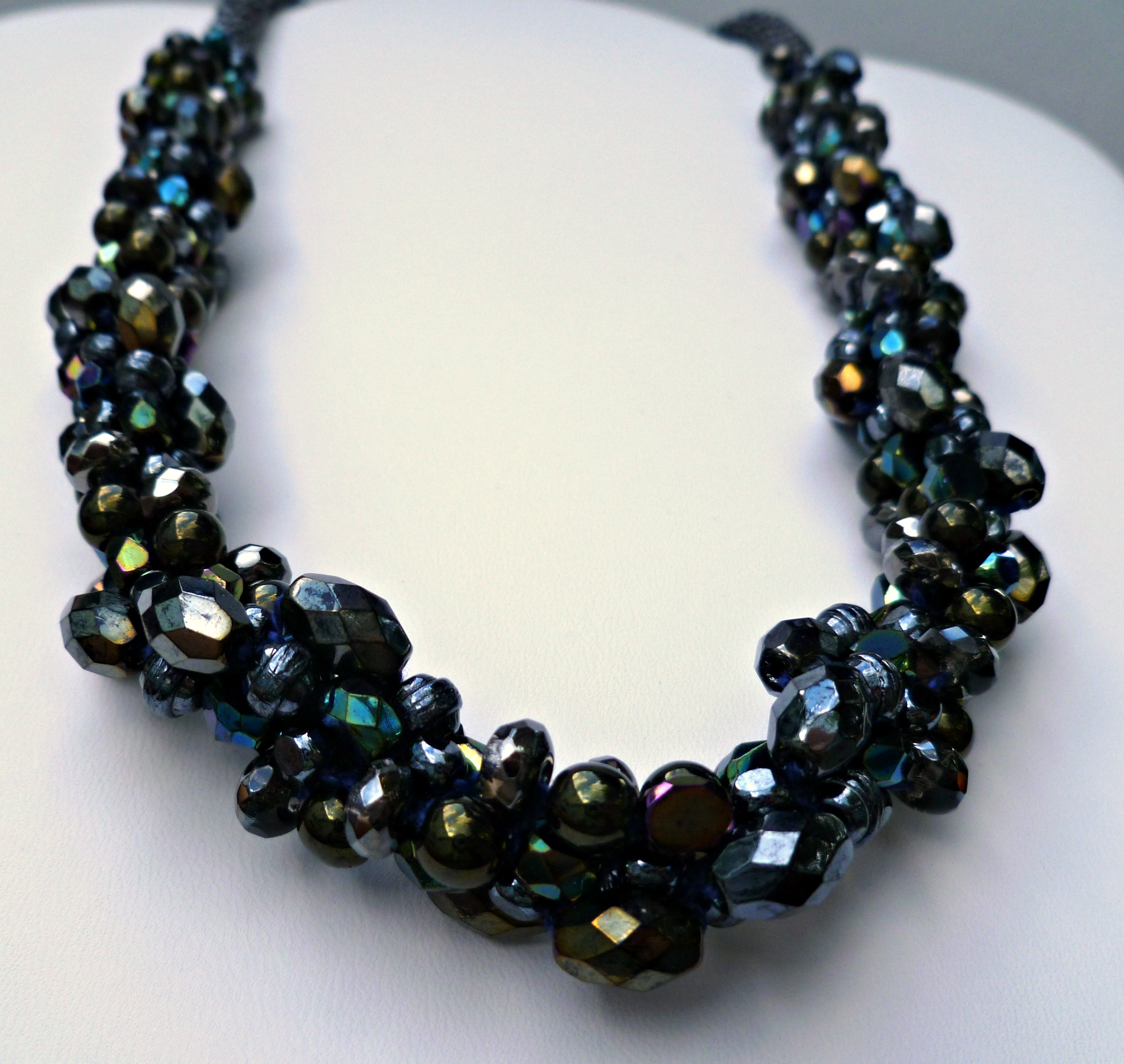Beaded Kumihimo Chunky Necklace Bling