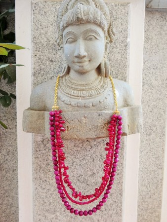 NKedia: Lucious Lips: Pink Coral Multi-Strand 1