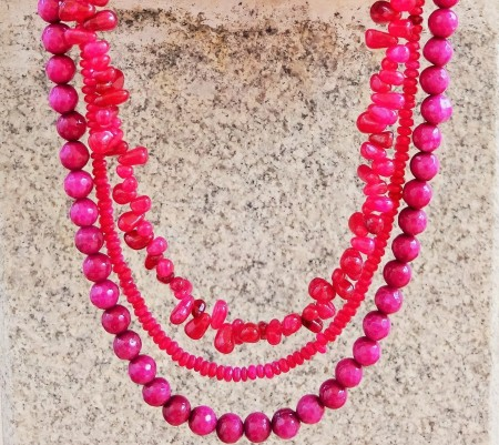 NKedia: Lucious Lips: Pink Coral Multi-Strand 2