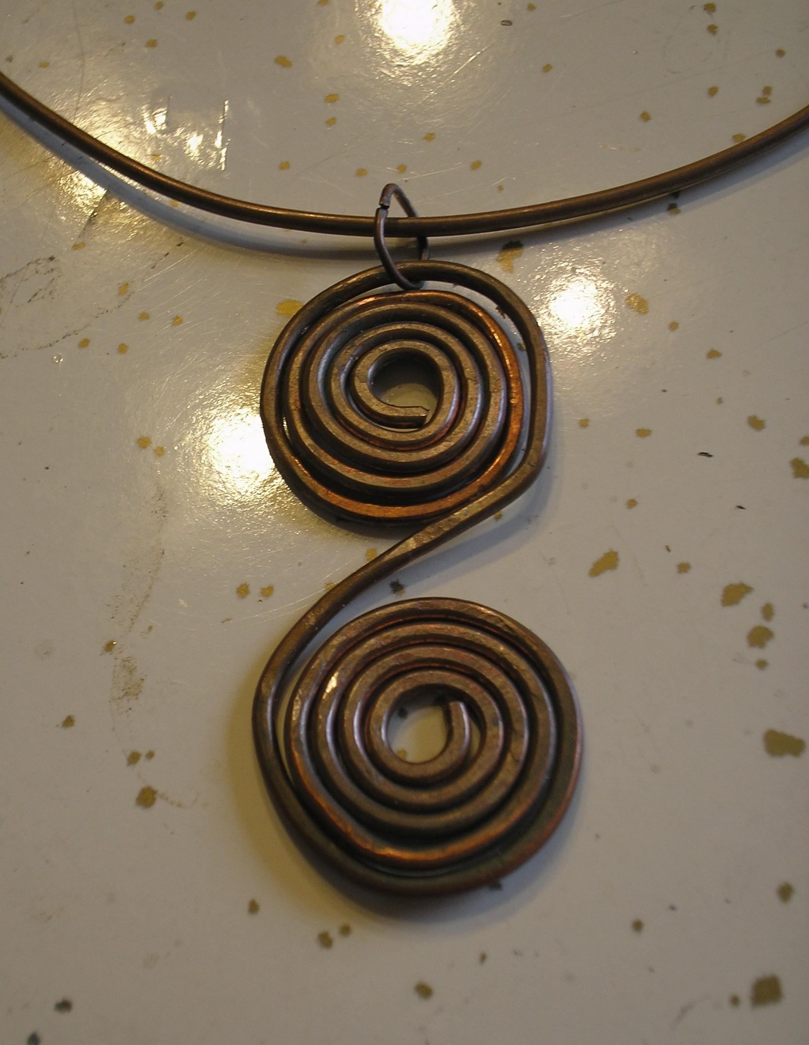 Copper Coil Pendant