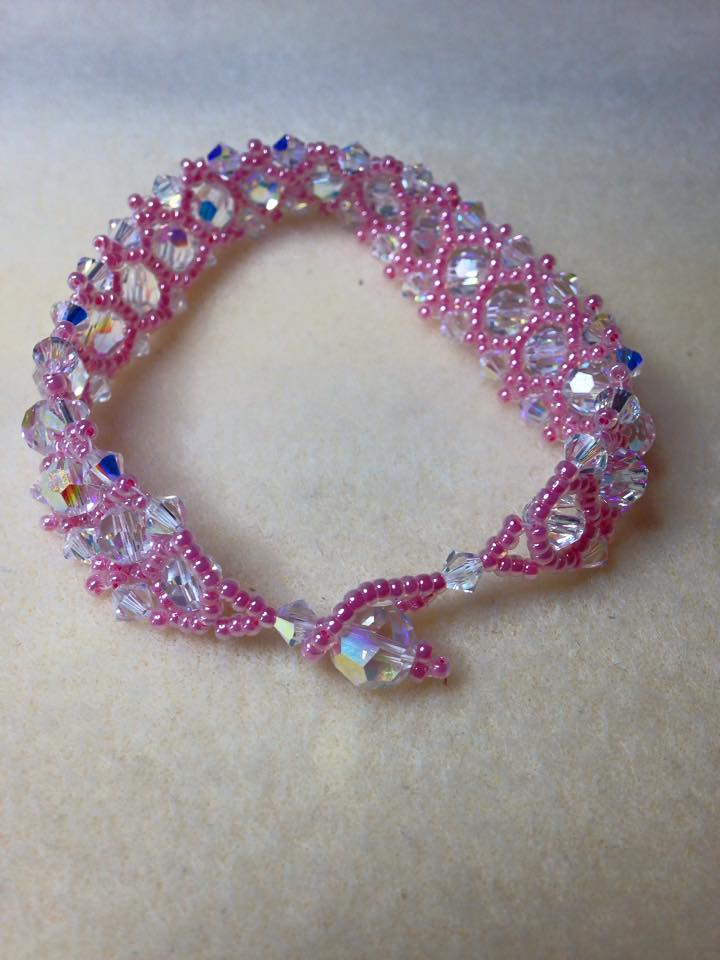 My Pretty New Pink Crystal Bracelet