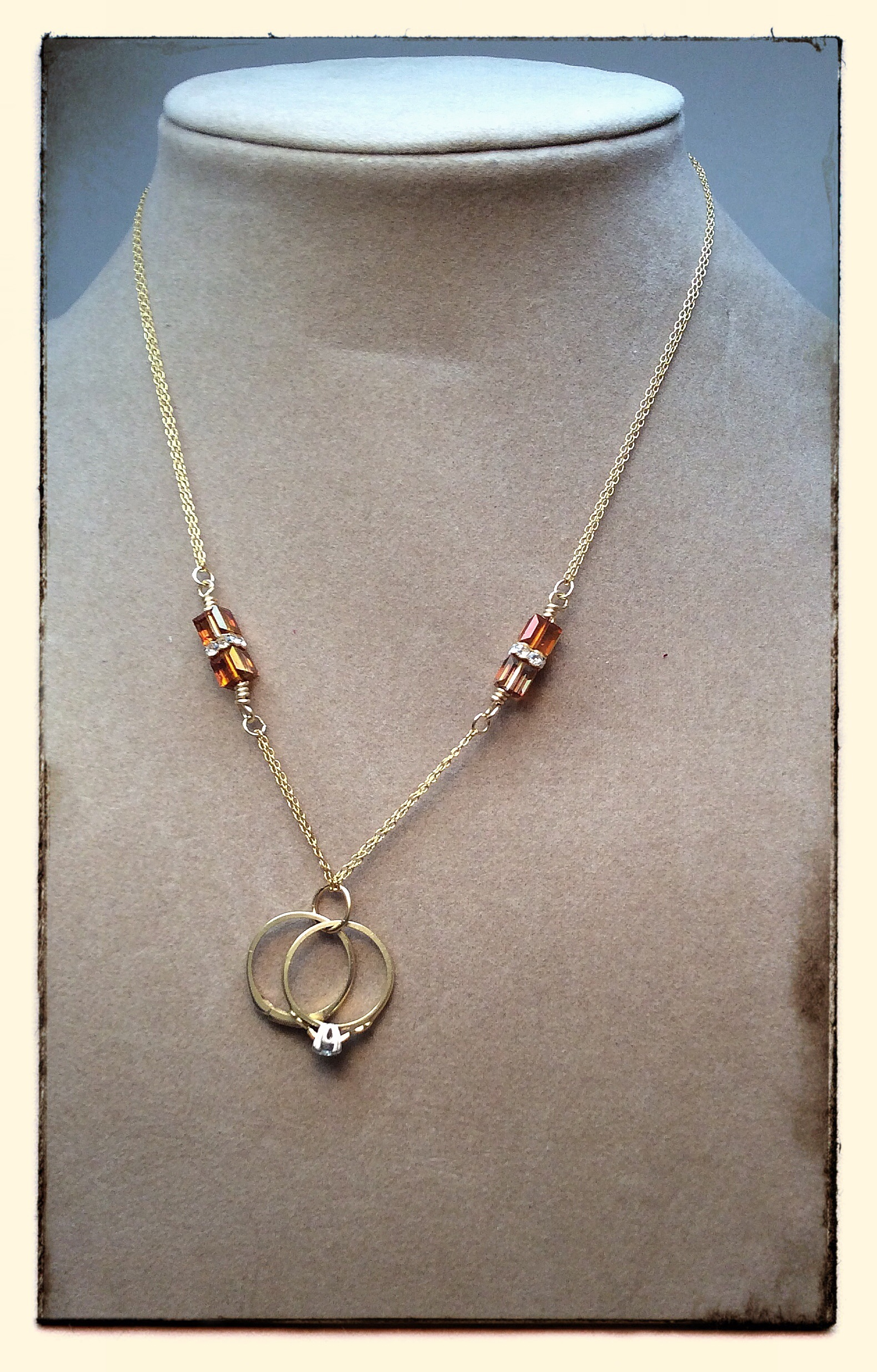 Heirloom Wedding Rings Necklace