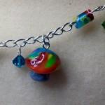 Charming Polymer Clay Mushroom Bracelet