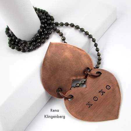 Secret Love Letter Pendant - tutorial by Rena Klingenberg