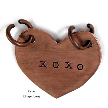 Putting the pendant together - Secret Love Letter Pendant - tutorial by Rena Klingenberg
