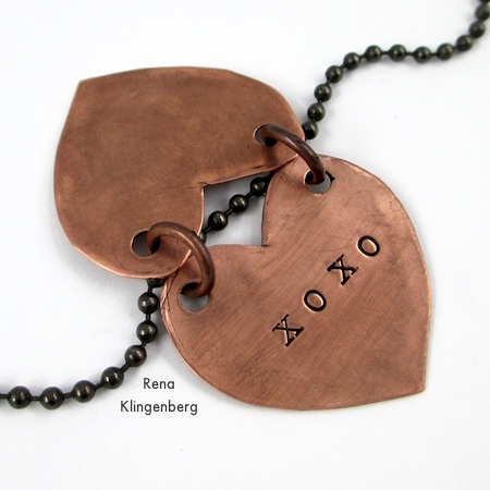 The opened pendant - Secret Love Letter Pendant - tutorial by Rena Klingenberg
