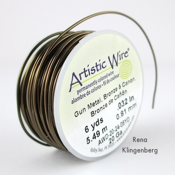 Wire for Wire Focal Bead - tutorial by Rena Klingenberg