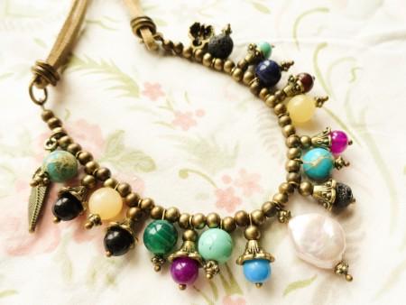 Pearl boho necklace