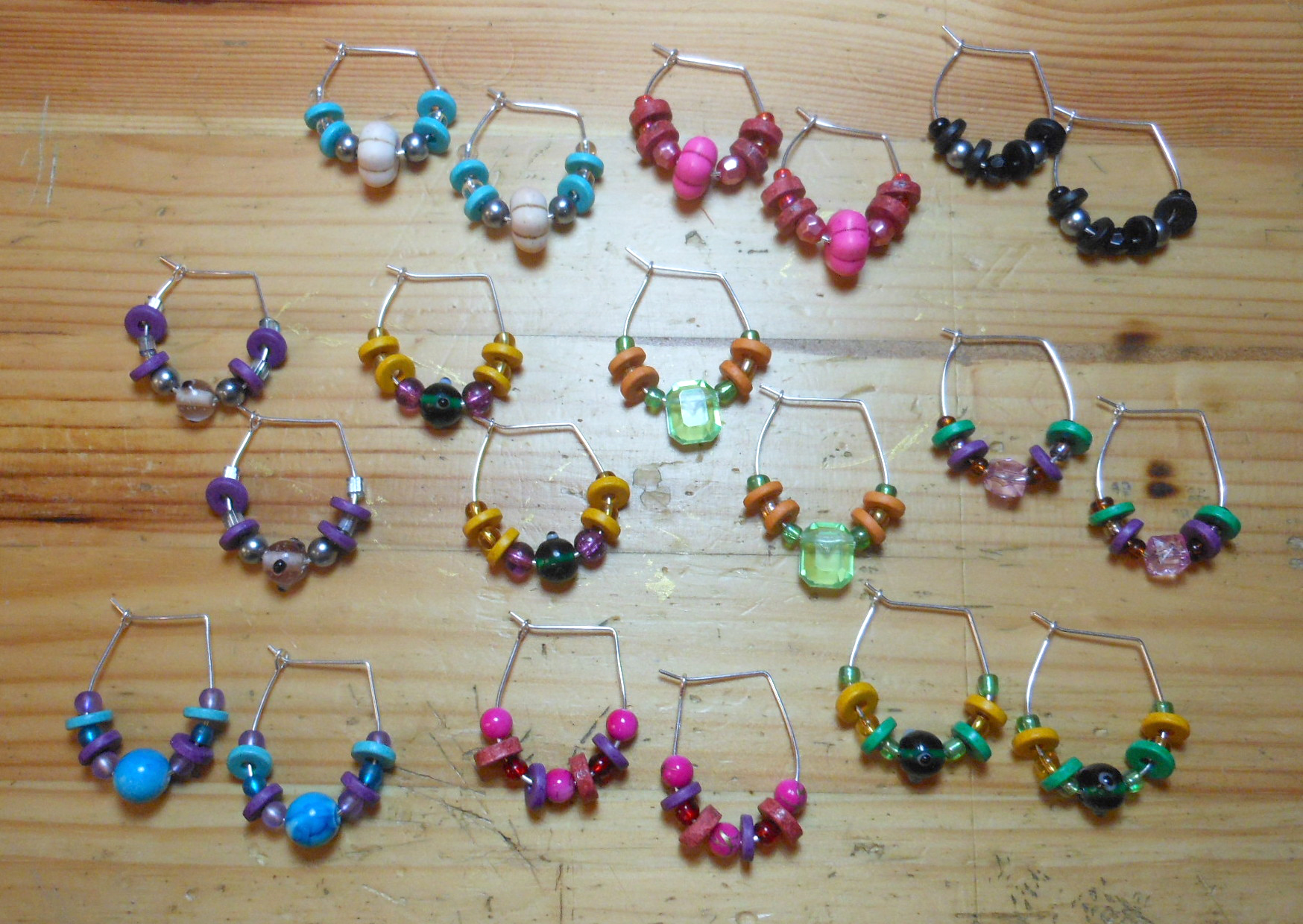 Hoop And Bead Earrings (My Own Version)
