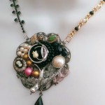 Broken Jewelry Collage Necklace Creations