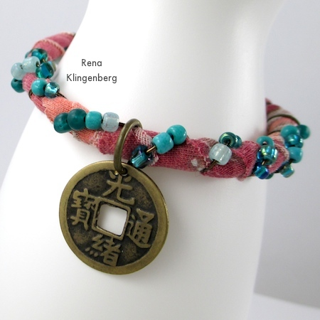 Gypsy Style Adjustable Wire Bracelet - tutorial by Rena Klingenberg