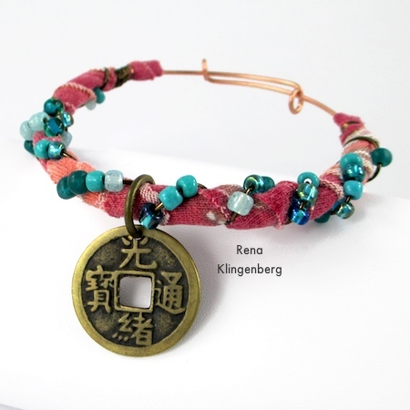 Gypsy Style Adjustable Wire Bracelet - tutorial by Rena Klingenberg