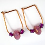 Hoop and Bead Earrings - tutorial by Rena Klingenberg