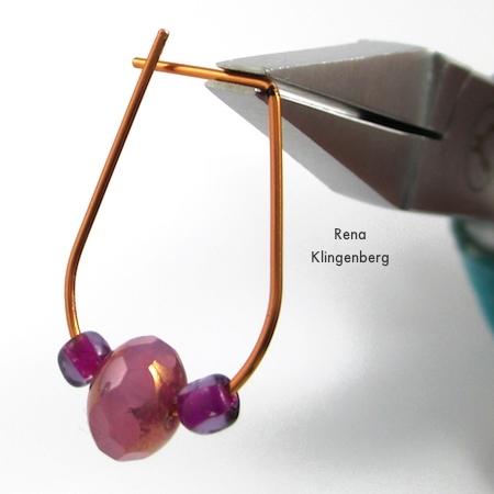Bending the wire for Hoop and Bead Earrings - tutorial by Rena Klingenberg