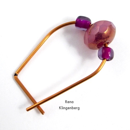 Almost finished - Hoop and Bead Earrings - tutorial by Rena Klingenberg