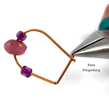 Finishing up - Hoop and Bead Earrings - tutorial by Rena Klingenberg