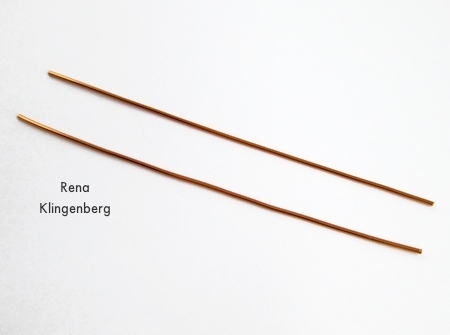Wires for Hoop and Bead Earrings - tutorial by Rena Klingenberg