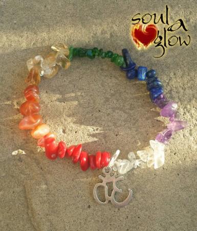 Chakra Balance - Red Coral, Carnelian, Citrine, Chrome Diopside, Lapis Lazuli, Amethyst, Quartz
