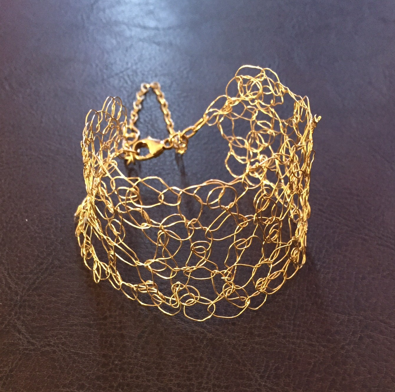 Wire Crochet Bracelet Made by Me