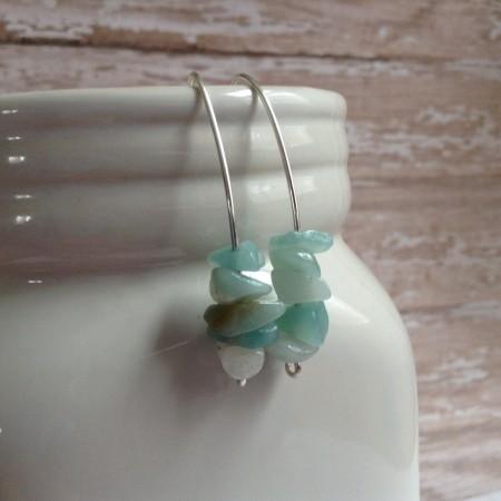 LBarczak: Sea Glass Inspired Dangle Earrings 1