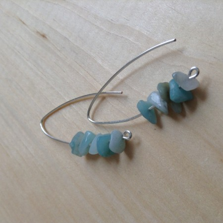 LBarczak: Sea Glass Inspired Dangle Earrings 2