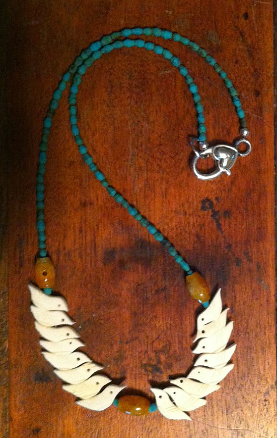 The Birds of Spring: two necklaces &  a bracelet