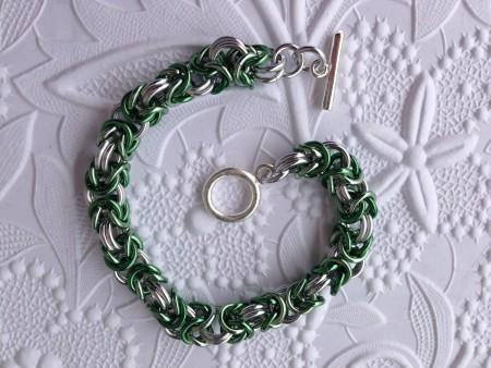 Spring Byzantine Chainmail Bracelet – Jewelry Making Journal