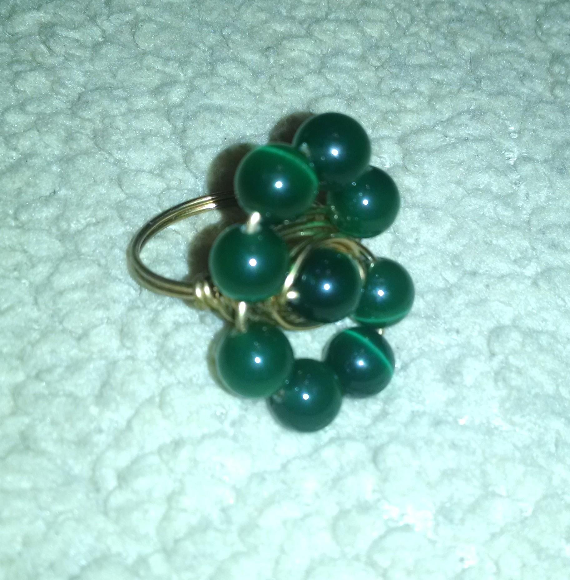 Handmade Beaded Ring
