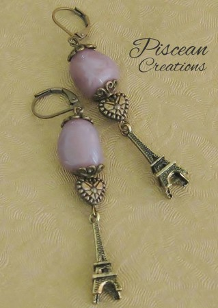 Purple Paris Danglers