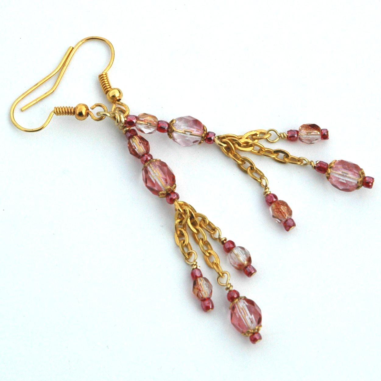 Crystal Rose Postmodern Gypsy Earrings