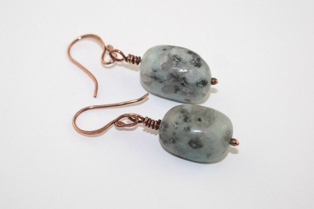 First earrings with my own balled up wire. Simple design, but I was in a rush to finally use the wire for instant gratification.