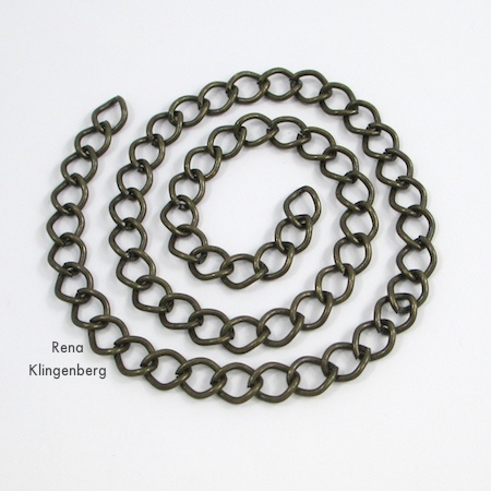 Chain for Choker - Interchangeable Jewelry - Connect a Choker and Bracelet to Make a Necklace - Tutorial by Rena Klingenberg