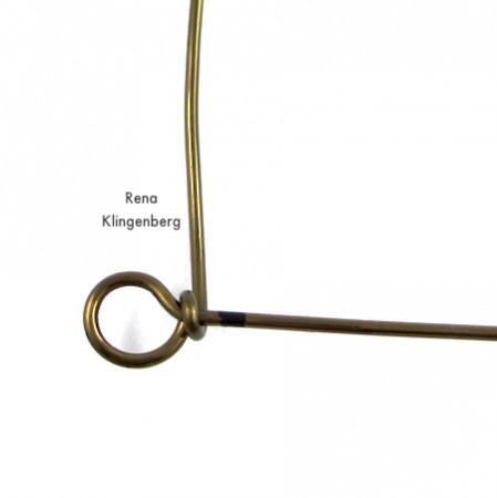 Starting the messy wire wrap - Messy Wire-Wrap Bead Chain Bracelet - tutorial by Rena Klingenberg