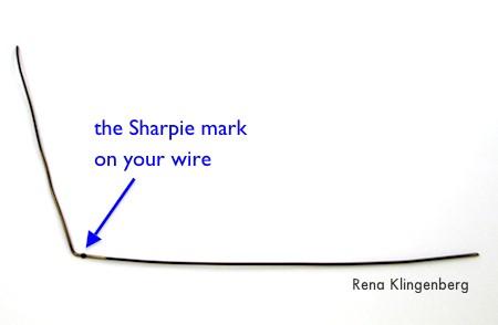 Wire for Messy Wire-Wrap Bead Chain Bracelet - tutorial by Rena Klingenberg