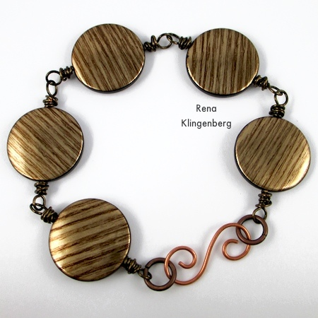 Messy Wire Wrap Bead Chain Bracelet - Tutorial by Rena Klingenberg