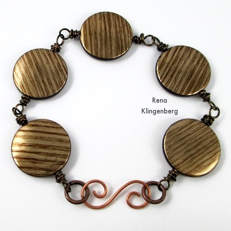 Messy Wire-Wrap Bead Chain Bracelet - tutorial by Rena Klingenberg