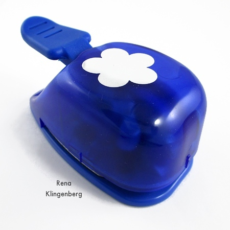 Flower shaped paper punch for Repurposed Aluminum Can Earrings - Tutorial by Rena Klingenberg