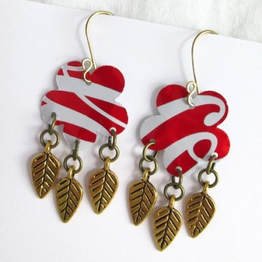 Repurposed Aluminum Can Earrings - Tutorial by Rena Klingenberg