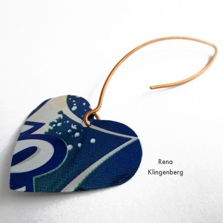 Repurposed Aluminum Can Earrings - Tutorial by Rena Klingenberg