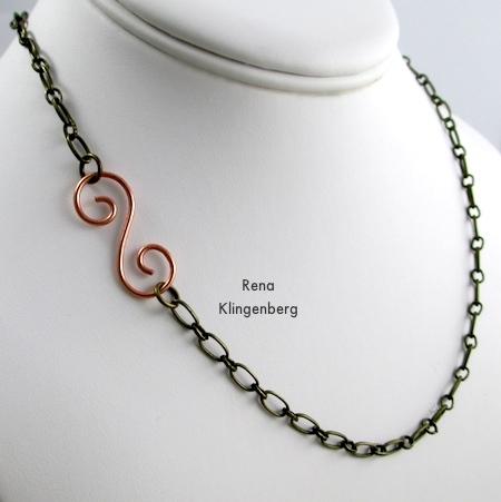 Fecho de Gancho de Arame Espiral - tutorial por Rena Klingenberg
