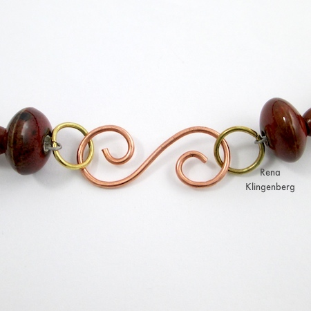 Spiral Wire Hook Clasp - tutorial by Rena Klingenberg