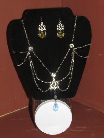 Bridal necklace & earrings
