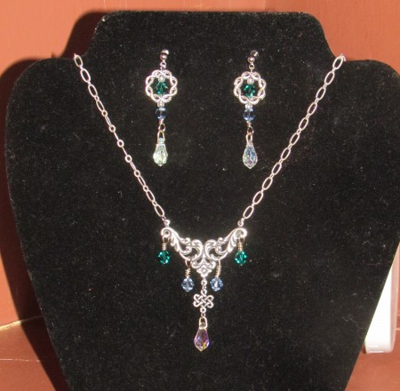 Matron of Honor necklace & earrings