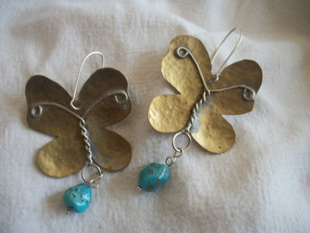 TParousou: Metalwork Butterfly Earrings 2