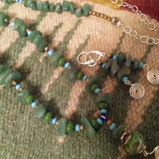 Re-purposed set from a jade necklace.