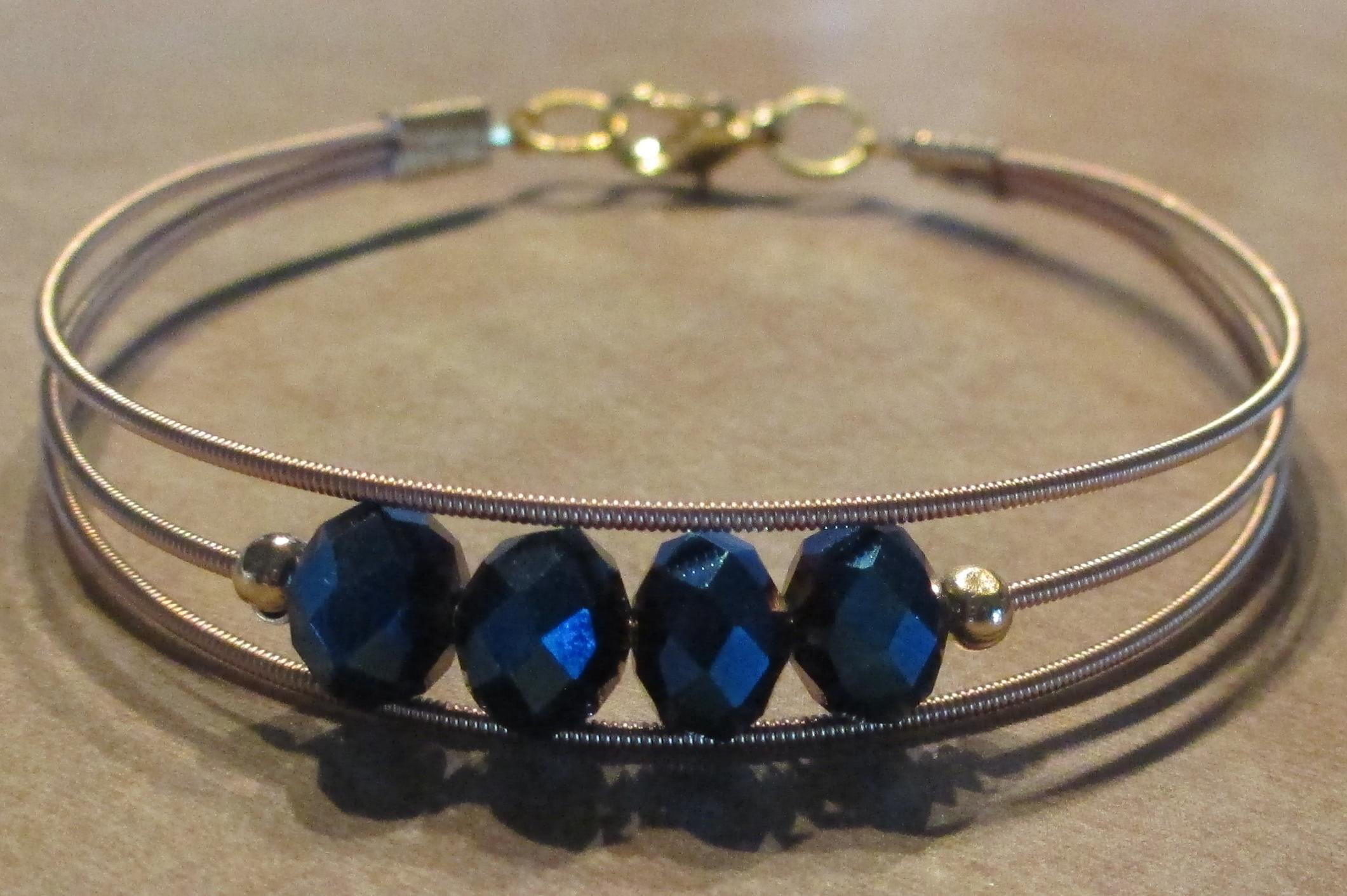guitar string bracelets bangles jewelry making journal. Black Bedroom Furniture Sets. Home Design Ideas