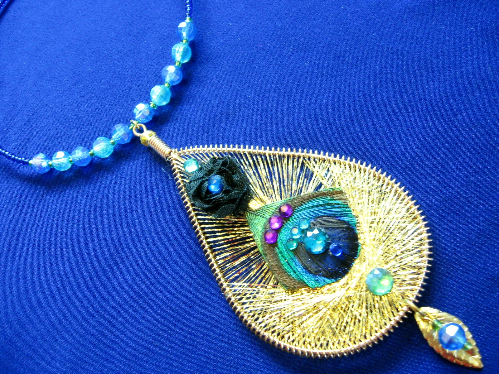 Jewel Tone Feather Jewellery