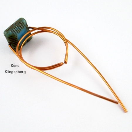 Shaping the ring - Adjustable Wire-Wrap Bead Ring - Tutorial by Rena Klingenberg